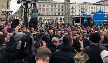 Spontane Kundgebung in Hamburg