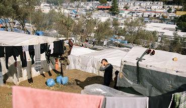 Geflüchtete auf Lesbos ohne Obdach