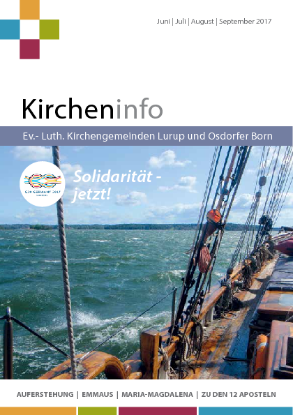 Kircheninfo Juni - September 2017