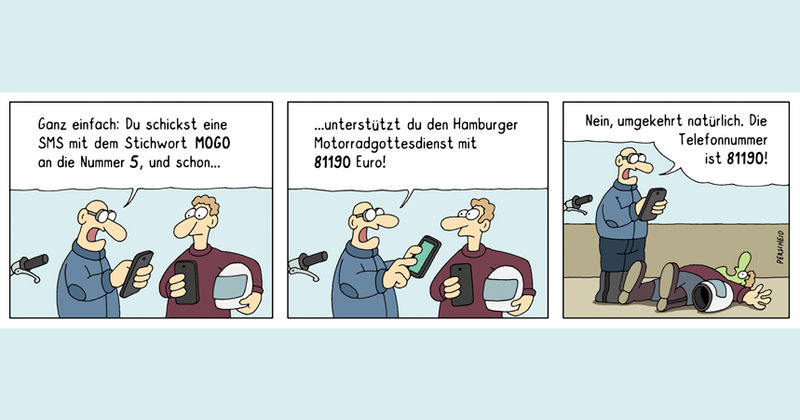 Gib mir 5 für MOGO Hamburg - Cartoon Martin Perscheid