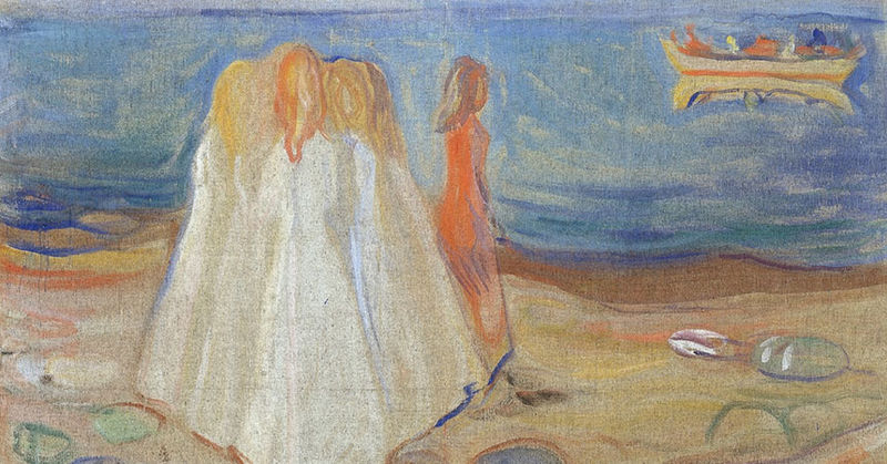 Edvard Munch: Mädchen am Meer, 1906/07 – © Hamburger Kunsthalle, bpk; Photo: Elke Walfort