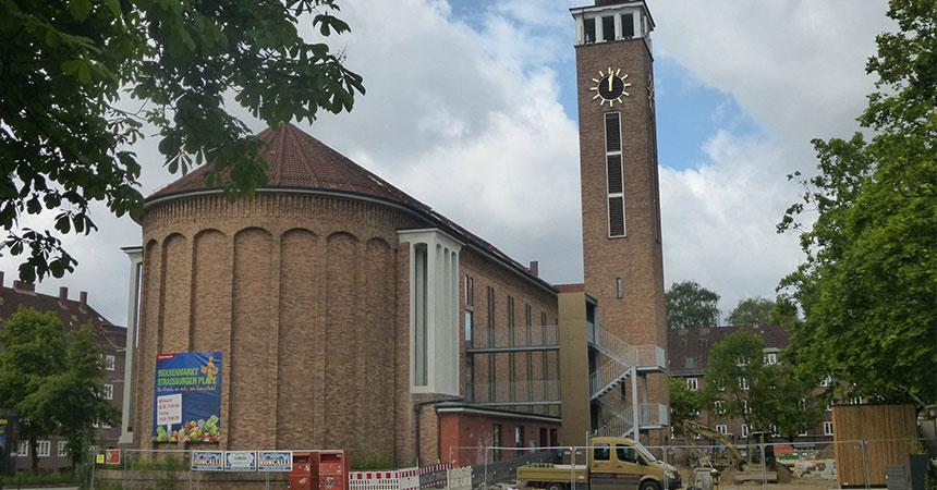 Abgebrannte Kirche Hamburg